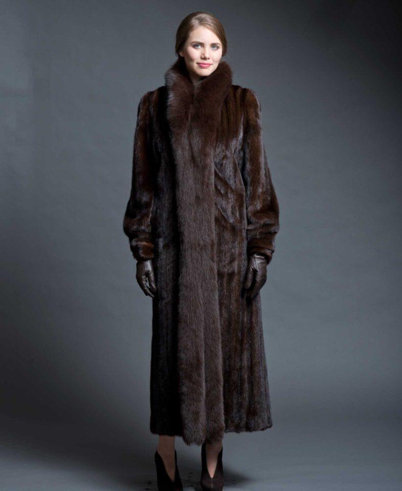Mink Coat With Fox Tuxedo