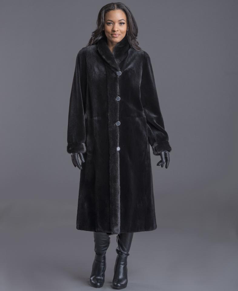 Sheared Mink Reversible Coat