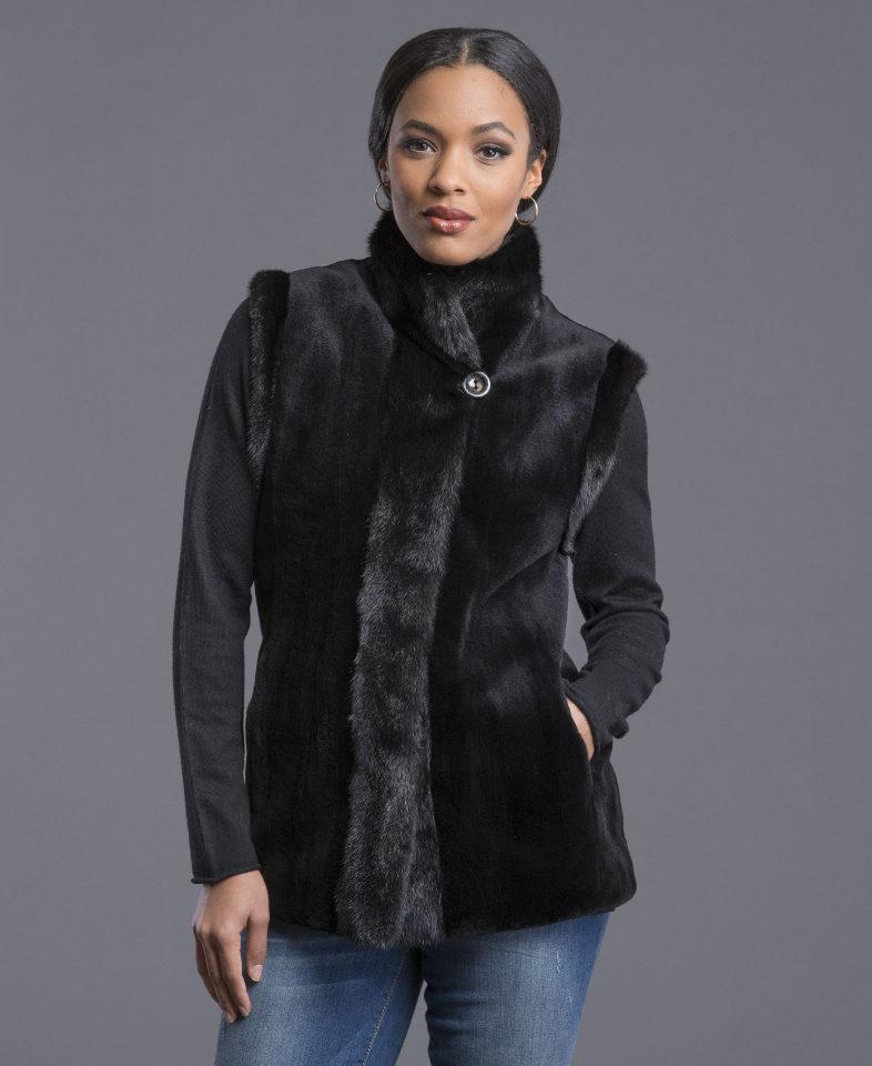 Reversible Sheared Mink Vest