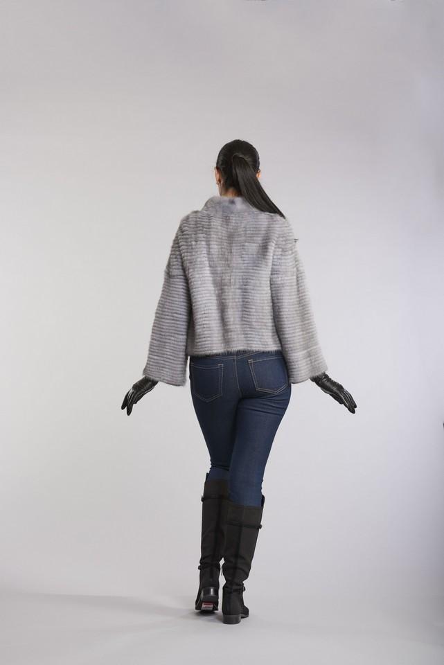 Horizontal Mink Jacket With Cashmere Lining
