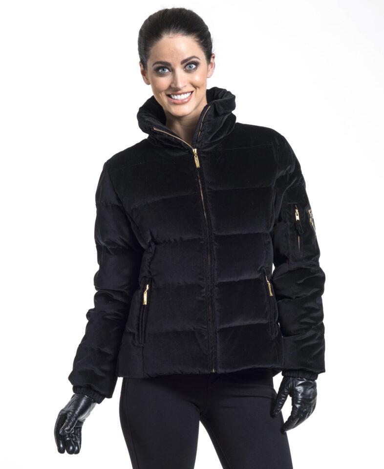 Black Velvet Down Jacket
