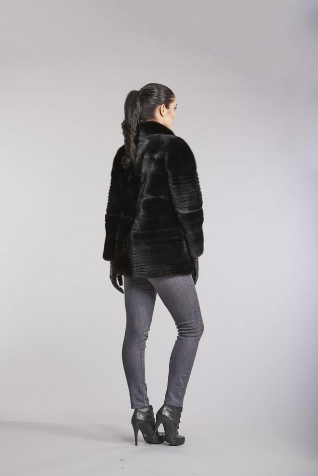 Horizontal Mink Jacket